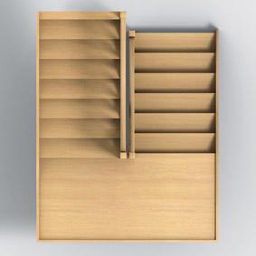 Groupe riaux escaliers - Escalier 2 quart tournant avec palier ...