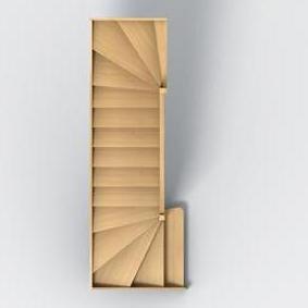 Groupe riaux escaliers - Escalier quart tournant bas ...