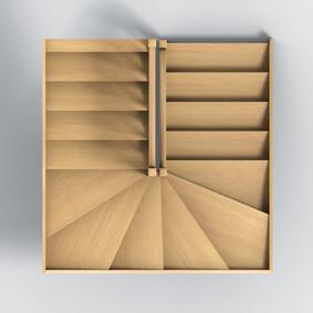 Groupe riaux escaliers for Dimension escalier bois
