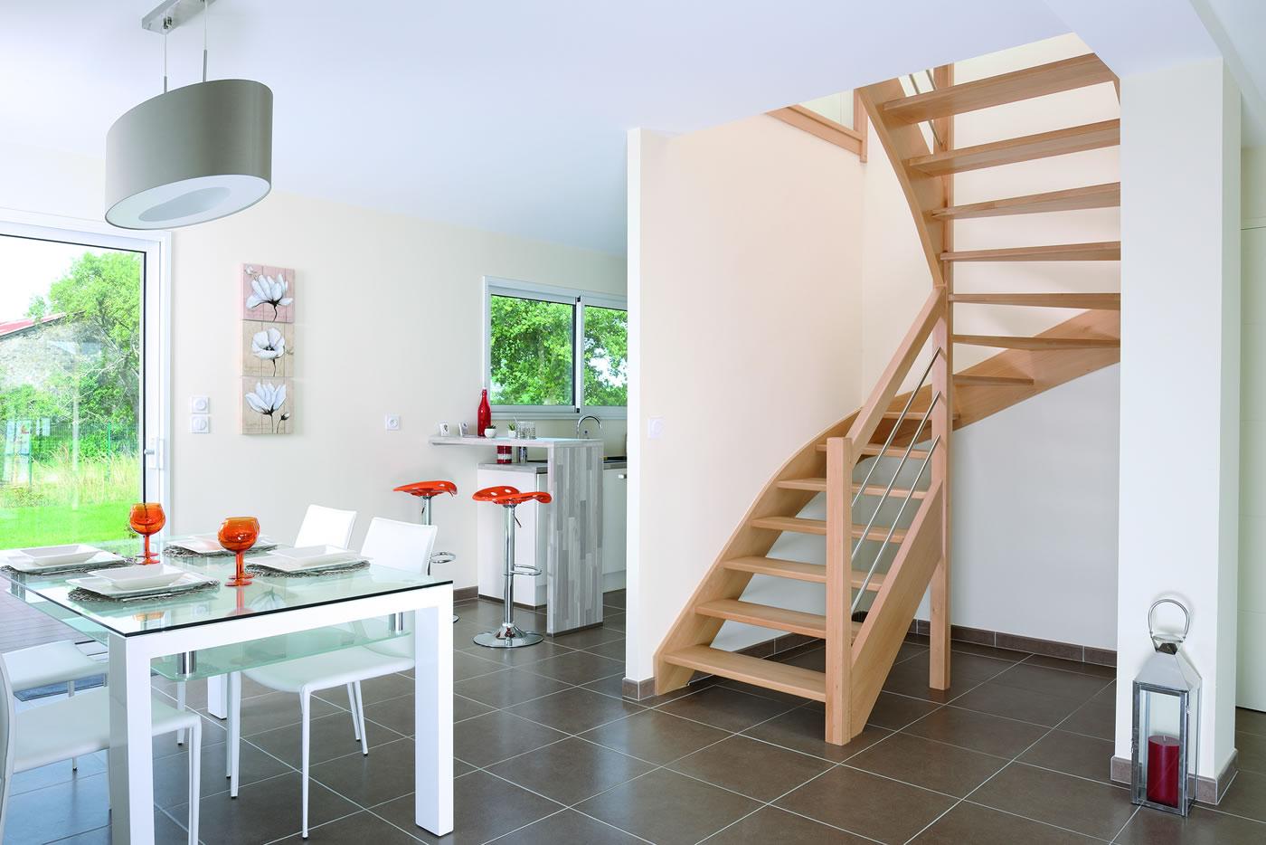 Escalier Bois Double Quart Tournant | Sedgu.com